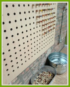 pegboard for corks