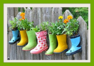 repurposing rain boots